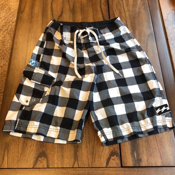 Billabong checkered swim trunks